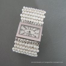 Relógio pérola, elegante concha pérola de pulso (WH101)