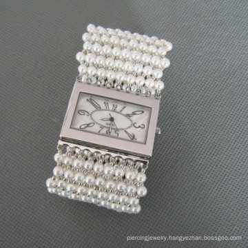 Pearl Watch, Fashionable Shell Pearl Wristwatch (WH101)