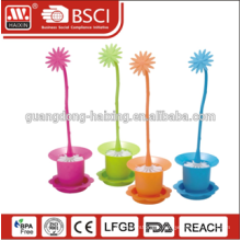 2015 NEW plastic toilet brush with holder