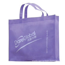 Fold Over Reinforced Die Cut Handle Pp Non Woven Carrier Bags / Plain Or 1-8 Color Printed