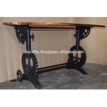 Mesa de mesa de manivela industrial Base de mesa Mesa de restaurante reciclado