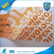 Custom security VOID tamper evident hot stamping sticker,Tamper evident QC passed sticker