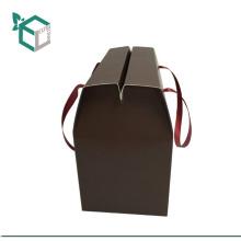 Logo al por mayor que sella la bebida de cristal que lleva la caja de papel la caja de bocado de la barra del caramelo del cabrito de la caja de papel con el mango