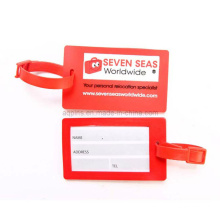 Personalized Soft PVC Luggage Tag in Red Color (LT-01)