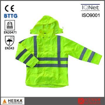 Высокой видимости весной непромокаемую куртку светоотражающая