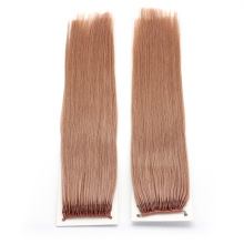 Pink Silk-Straight 18inch Human Hair Virgin Hair Brazilian Hair Extensions Knot Thread Hair Extension Remy Hair