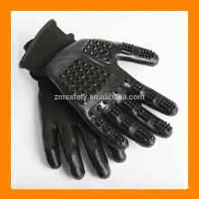 Outil de brosse de descente de cheval de ZMH303 gant de solvant de cheveux d'animal familier, gant de toilettage d'animal familier de chat de chat noir pour le rejet d'animal