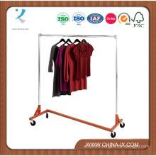 Heavy Duty Single Rail Salesman Z Trucks Rack Cloths Stand