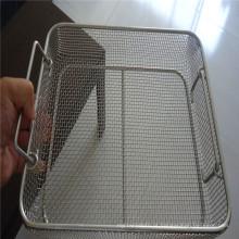 Rede de arame tecida frisada galvanizada para a cesta