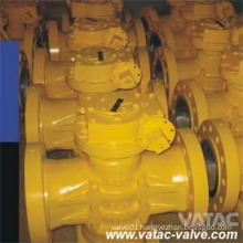 Cast CF3/CF3m RF Flanged Dbb Plug Valve with Metal Seat
