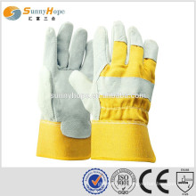 Sunnyhope reinforced safety Cow Leather Rigger Work Gloves