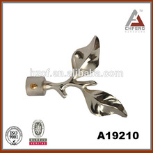 plated curtain finial/metal curved curtain rods/white gold curtain rods 19mm metal curtain rod