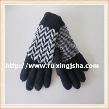 Мужские Вязаные перчатки с подкладкой флис