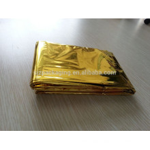 5Pcs waterproof First Aid Survival PET aluminum Foil Thermal Blanket Rescue with multifunction