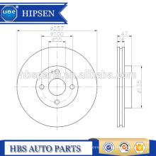 Couvercle de frein à disque ATE 424164 / 4241.64 / 4241 64 pour Mazda