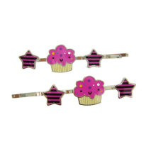 Mini broches de cheveux roses