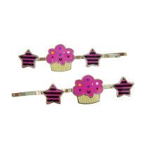 Moda mini pinos de cabelo rosa