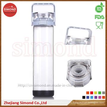 500ml Hot Sales Trtian botella de agua con paja, sin BPA