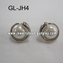 femmes de boucles d'oreilles perles de coquille