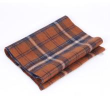 Plain style alpaca scarf in double face