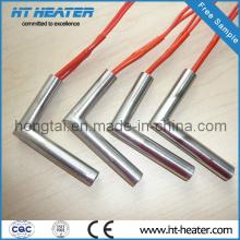Elemento de aquecedor de cartucho elétrico com cotovelo