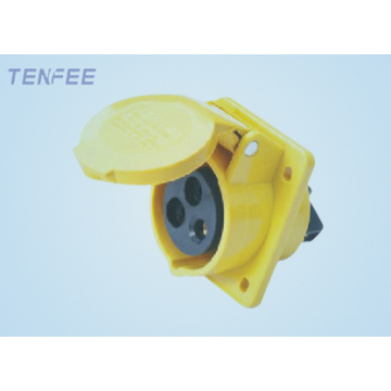 16a 3p panel mounted socket(inclined)