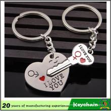 Coeur métal et trousseau de clés forme Couple