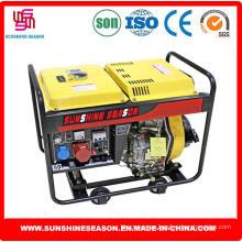 Generador de Diesel 6KW diseño abierto para el suministro de la casa y poder