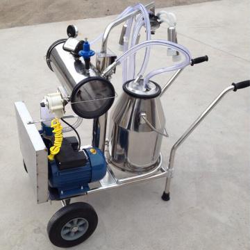 Milking machine with vacuum pump motor