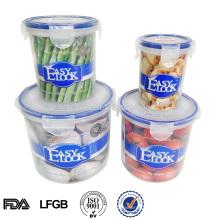 conjunto de vasilha de armazenamento de alimentos de vácuo de conservação de frescura