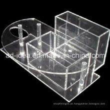 Suporte de exposição de acrílico transparente para batom