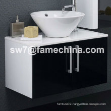 High Gloss Wall Mounted MDF Bathroom Sink Cabinets