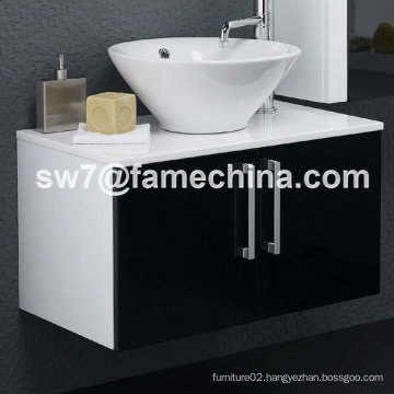 High Gloss Wall Mounted MDF Bathroom Sink Cabinets