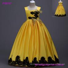 5 colores nuevo vestido de niña de las flores del partido del baile de fin de curso de princesa desfile de dama de honor bodas vestidos de niña de las flores vestido de los niños vestido de la muchacha
