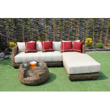 Trendy Classy Design Conjunto de sofá de jacinto de água para sala de estar interior Mobília de vime natural