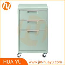 Meubles de bureau meuble de classement de menthe en métal mobile de 3 tiroirs