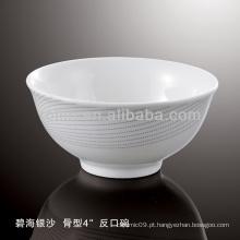 Saudável, durável, branca, porcelana, forno, seguro, prata, Areia, dinnerware