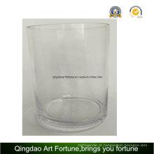 Vaso de vidro do cilindro com tamanhos diferentes