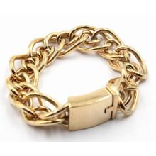 Hot venda de jóias de aço inoxidável pulseira de aço para homens