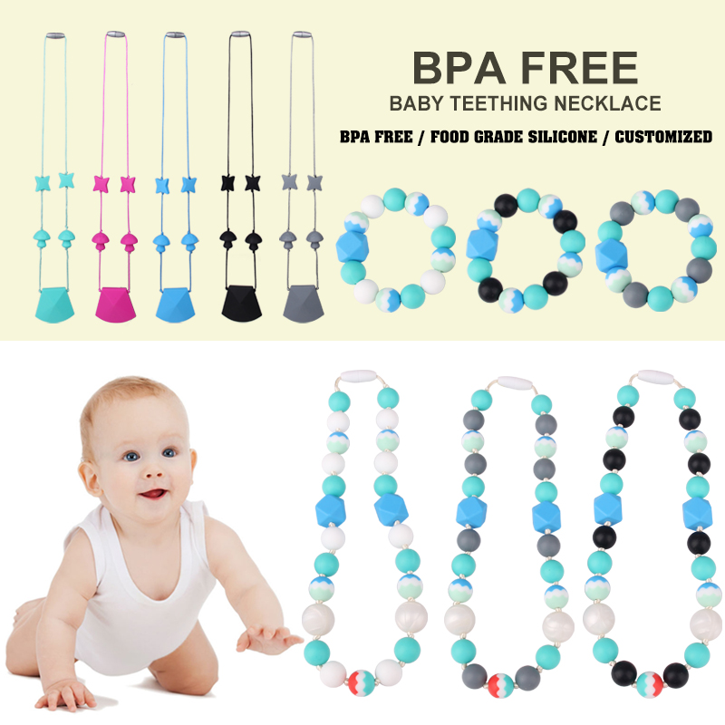 Fashion baby teething necklace