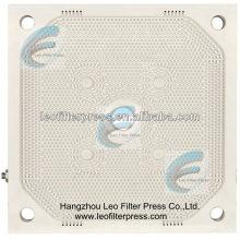 Placa de prensa de filtro de membrana PP de alta presión del filtro Leo
