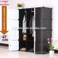 Plastic clothes and shoes storage organizer cabinet