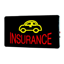 LED firma de seguros.