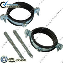 carbon steel pole clamp single ring with rubber