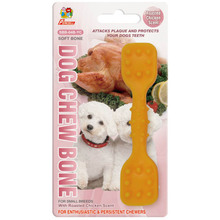 "Percell 4.5 ""Dura Chew Toy Dumbbell Roasted Chicken Scent"