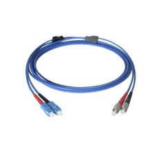 Ftth duplex sc à fc upc / apc cordon de connexion à fibre optique, sc / upc à sc / upc cordon de raccordement optique, sc to sc patch cord