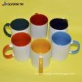 Sunmeta 11oz sublimation inner & handle color mug dark red