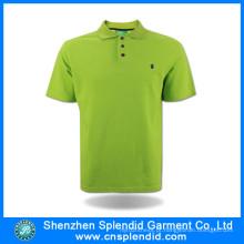 2017 Novo Design Diferentes Cores Moda Algodão Unisex Camisa Polo
