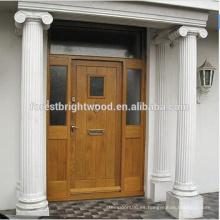 Sold Hardwood Door Designs Malasia Diseño de puerta de madera con dos laterales Lite
