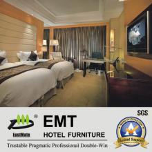 Muebles modernos del dormitorio del hotel de madera sólida del diseño de Niza (EMT-K02)